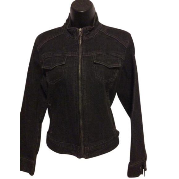 Chico's Jackets & Blazers - Chico's stretch black denim Jean jacket